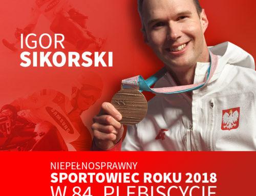 Igor Sikorski Sportowcem 2018 w Plebiscycie Przeglądu Sportowego!