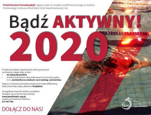 Bądź AKTYWNY 2020 – ruszyły zajęcia w sekcjach sportowych!