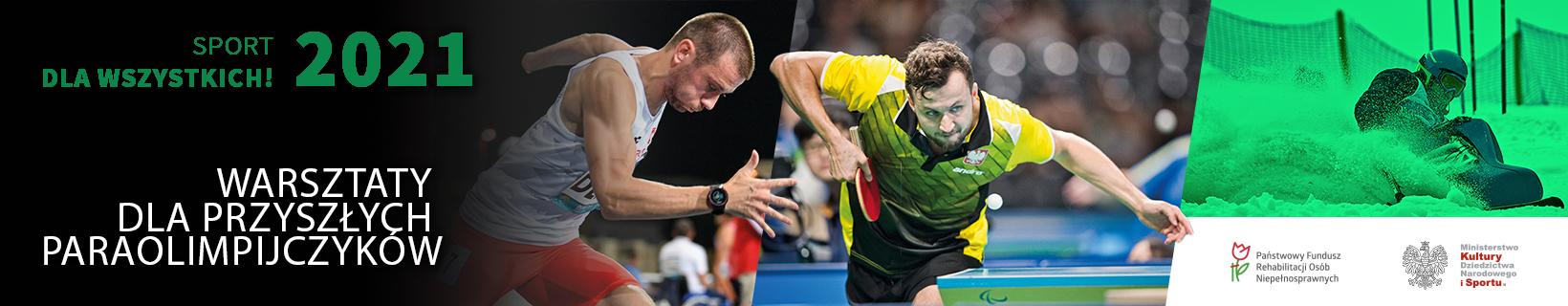 """Link do strony poświęconej projektowi """"Sport dla wszystkich 2021"""" - warsztaty dla przyszłych paraolimpijczyków"""